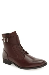 Calvin Klein Men's 'Stokely' Leather Boot Oxblood