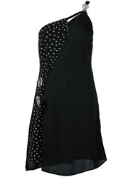 Versus Studded Single Shoulder Dress Black