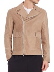 Helmut Lang Perfecto Leather Jacket Dark Sand