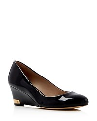 Tory Burch Astoria Mid Heel Wedge Pumps Black