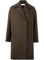Gianluca Capannolo Collared Knee Length Coat Green