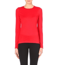 Icebreaker Oasis 200 Long Sleeved Merino Wool Top 601 Garnet Red