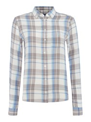 Gant Flannel Check Shirt Blue