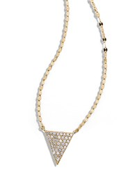 14K Fatale Diamond Spike Charm Necklace Lana Gold
