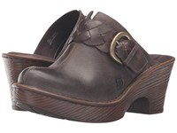 Born Mahal Cloudy Full Grain Leather Women's Clog Shoes Brown