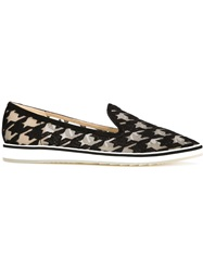 Nicholas Kirkwood 'Alona Houndstooth' Loafers Black