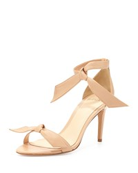 Alexandre Birman Leather Bow Tie D'orsay Sandal Nude