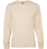 Snow Peak Waffle Knit Organic Cotton T Shirt Neutrals
