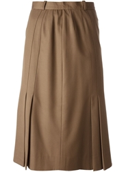 Jean Louis Scherrer Vintage Mid Length Skirt Brown