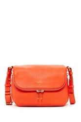 Fossil Preston Small Flap Leather Handbag Orange