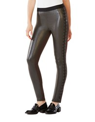 Bcbgmaxazria Jaims Faux Leather Leggings Dark Fatigue