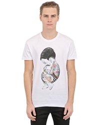 Siamoises Burlesque Printed Cotton T Shirt White
