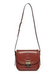Lanvin Lala Embossed Logo Medium Satchel Bag Brown