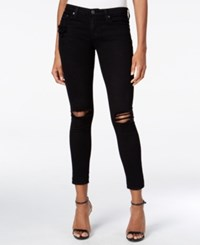 Ag Adriano Goldschmied Ripped Black Wash Ankle Leggings