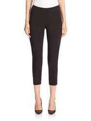 Peserico Stretch Cotton Cropped Pants Black