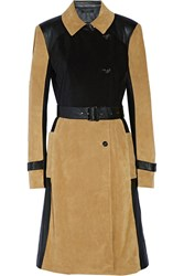 Ohne Titel Suede And Leather Trench Coat