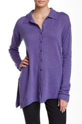 Cullen Cashmere Shirt Tunic Purple
