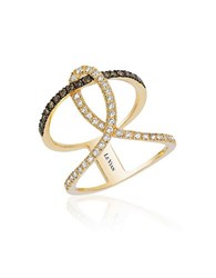 Le Vian 14K Honey Gold Neo Geo Ring With Chocolate Diamonds And Vanilla Diamonds Yellow Gold