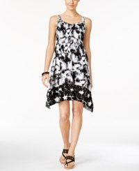 Styleandco. Style And Co. Petite Sleeveless Printed Handkerchief Hem Dress Only At Macy's Nantucket Dye