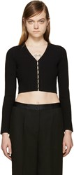Alexander Wang Black Cropped Cardigan