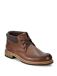 Andrew Marc New York Lace Up Ankle Boots Brown