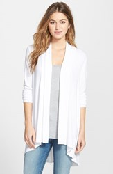Bobeau Women's Long Cardigan White
