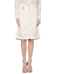 Trussardi Jeans Skirts Knee Length Skirts Women Ivory