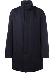 Herno Single Breasted Coat Blue