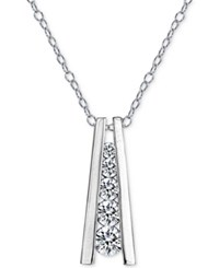 Giani Bernini Cubic Zirconia Ladder Pendant Necklace In Sterling Silver Only At Macy's
