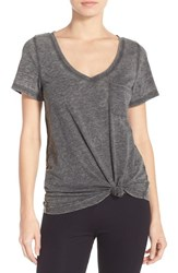Make Model Women's 'Gotta Have It' V Neck Tee Charcoal