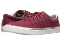 K Swiss Surf 'N Turf Tawny Port Raw Umber White Canvas Women's Tennis Shoes Red