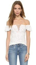 Free People Popsicle Off Shoulder Top Ivory