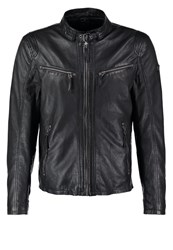 Gipsy Coby Leather Jacket Schwarz Black