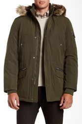 Nautica Faux Fur Trim Jacket Green