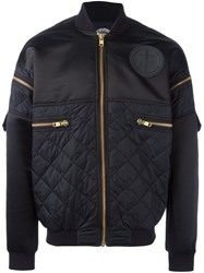 Astrid Andersen Quilted Bomber Jacket Blue