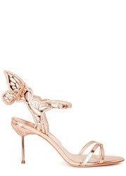 Sophia Webster Chiara Rose Gold Winged Leather Sandals