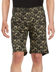 Lucio Castro Graphic Chino Shorts Khaki