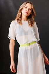 Urban Outfitters Neon Pvc Belt Yellow