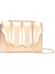 Marco De Vincenzo Quilted Paw Flap Crossbody Bag Metallic