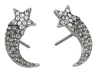 Marc Jacobs Charms Paradise Shooting Star Studs Earrings Crystal Antique Silver Earring