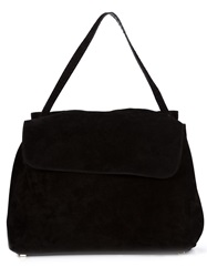 The Row Top Handle Tote Black