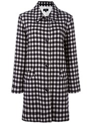 A.P.C. Checked Mid Coat Black