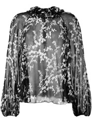 Giambattista Valli Semi Sheer Blouse Black