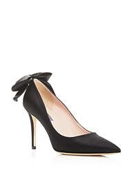 Sarah Jessica Parker Sjp By Lucille Bow Pointed Toe Pumps Black