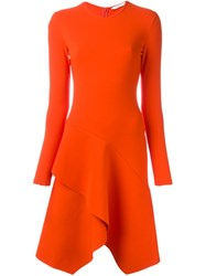 Givenchy Flared Cocktail Dress Yellow And Orange