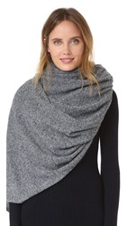 White Warren Cashmere Travel Wrap Scarf Twilight Heather