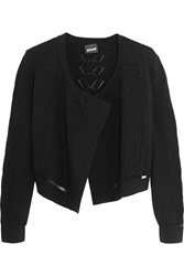 Just Cavalli Cropped Wool Blend Cardigan