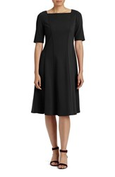 Lafayette 148 New York Women's Punto Milano Elbow Sleeve Fit And Flare Dress