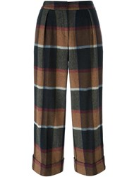 I'm Isola Marras Checked Trousers Brown