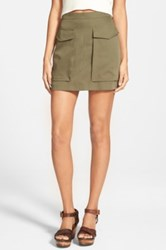 Soprano Cargo Skirt Juniors Green